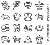 dog clothes icons set. outline... | Shutterstock .eps vector #1909806544