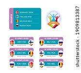 football 2020 tournament final... | Shutterstock .eps vector #1909813387
