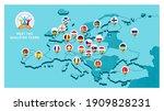 2020 football championship...   Shutterstock .eps vector #1909828231
