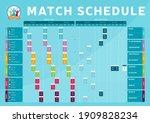 euro 2020 match schedule... | Shutterstock .eps vector #1909828234