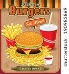 american,banner,beef,bread,bun,burger,card,cheese,cheeseburger,drink,fast,fat,flyer,food,french