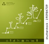 green economy concept   leafs... | Shutterstock .eps vector #190984709
