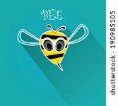 vector bee flat icon. cartoon...   Shutterstock .eps vector #190985105