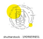 security lock line icon. mobile ...   Shutterstock .eps vector #1909859851
