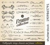 calligraphic design elements.... | Shutterstock .eps vector #1909865791