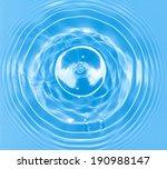 abstract blue circle water drop ... | Shutterstock . vector #190988147