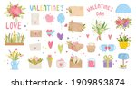 spring wedding set  hand drawn... | Shutterstock .eps vector #1909893874