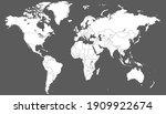 world map color vector modern.... | Shutterstock .eps vector #1909922674