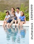 parents with children relaxing... | Shutterstock . vector #190994999