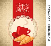 Vector Menu Design For Cafe