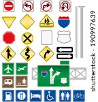 road sign vectors without text | Shutterstock .eps vector #190997639