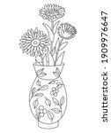 Vase With Flowers Isolated On...