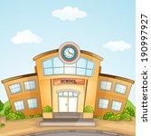illustration of school building. | Shutterstock .eps vector #190997927