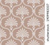 vector vintage damask pattern... | Shutterstock .eps vector #1909983337