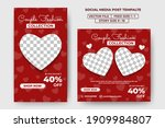 set of editable square banners...   Shutterstock .eps vector #1909984807