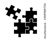 puzzle compatible icon. jigsaw... | Shutterstock .eps vector #1909989754