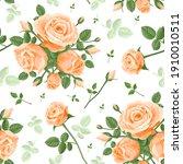 seamless pattern of orange... | Shutterstock .eps vector #1910010511