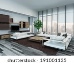 picture of modern living room... | Shutterstock . vector #191001125