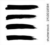 art black ink abstract brush...   Shutterstock .eps vector #1910018584