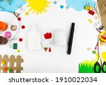 crafts with children from... | Shutterstock . vector #1910022034