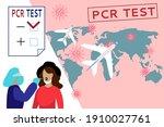 concept compulsory pcr testing... | Shutterstock .eps vector #1910027761