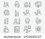 vaccine icons  such as syringe  ... | Shutterstock .eps vector #1910033137