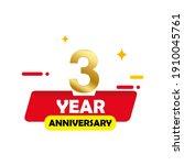3 year anniversary vector...   Shutterstock .eps vector #1910045761
