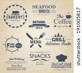 food and drink restaurant retro ... | Shutterstock . vector #191005817
