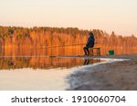 fishing is a favorite pastime....   Shutterstock . vector #1910060704
