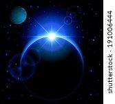 raster version. dark planet... | Shutterstock . vector #191006444