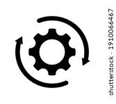 workflow icon vector. gear cog ... | Shutterstock .eps vector #1910066467