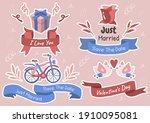 valentine illustration vector... | Shutterstock .eps vector #1910095081