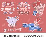valentine illustration vector... | Shutterstock .eps vector #1910095084
