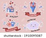 valentine illustration vector... | Shutterstock .eps vector #1910095087