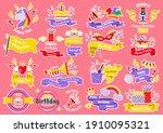 party label vector logo for... | Shutterstock .eps vector #1910095321