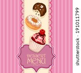 vector dessert menu with... | Shutterstock .eps vector #191011799