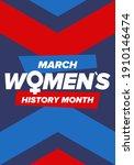 women's history month.... | Shutterstock .eps vector #1910146474