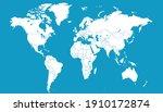 world map blue vector modern.... | Shutterstock .eps vector #1910172874