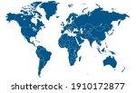 world map blue vector modern.... | Shutterstock .eps vector #1910172877