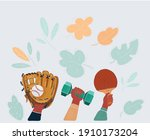 vector cartoon illustration of... | Shutterstock .eps vector #1910173204