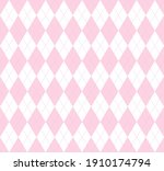 valentines day argyle plaid.... | Shutterstock .eps vector #1910174794