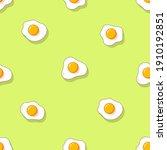 fried eggs seamless pattern....   Shutterstock .eps vector #1910192851