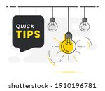 quick tips badge with light... | Shutterstock .eps vector #1910196781