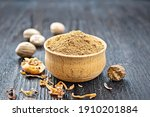 Ground Nutmeg In A Bowl  Whole...