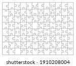 jigsaw puzzle white color.... | Shutterstock .eps vector #1910208004