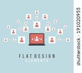 flat design vector illustration ... | Shutterstock .eps vector #191020955