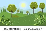 landscape with mountains ...   Shutterstock .eps vector #1910213887