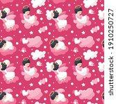 seamless cute vector pattern... | Shutterstock .eps vector #1910250727