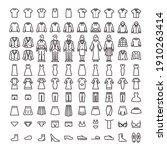 line icon set. vector... | Shutterstock .eps vector #1910263414