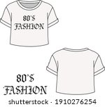 80's fashion printed vector tee ... | Shutterstock .eps vector #1910276254